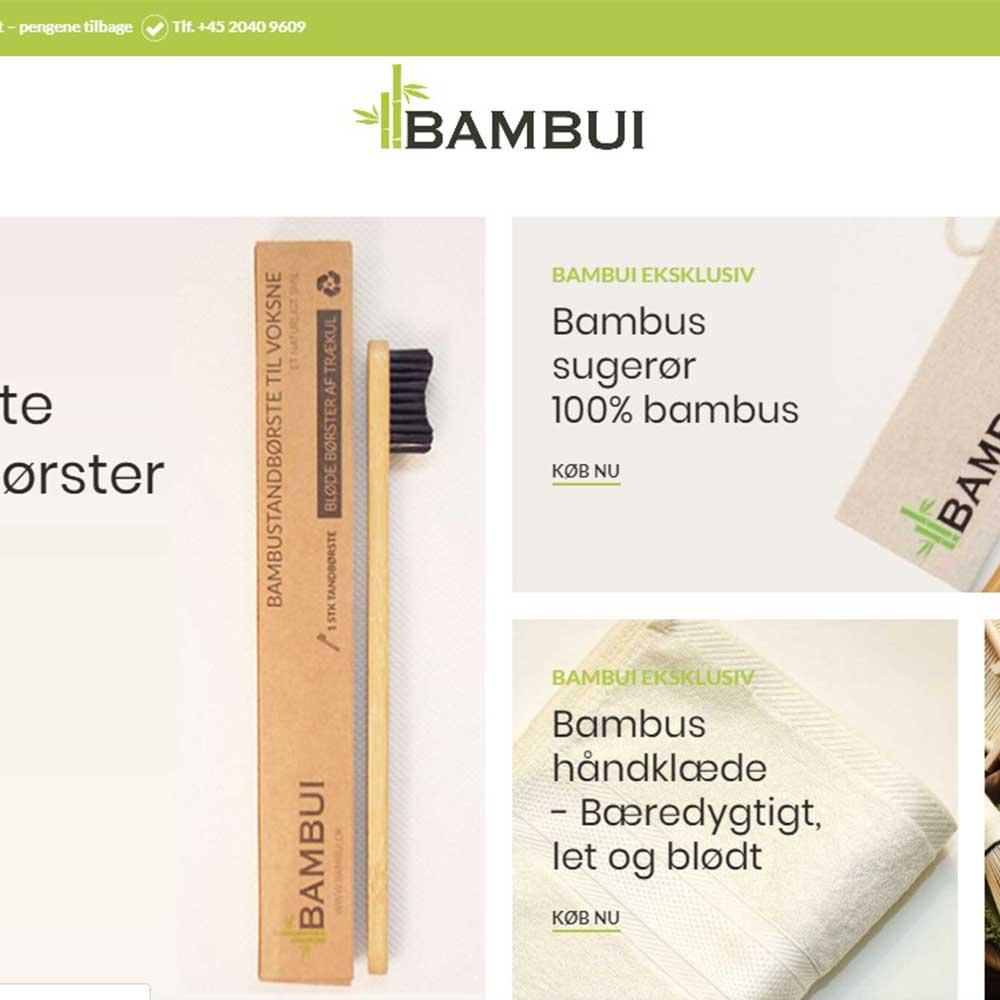 Bambui's hjemmeside forside