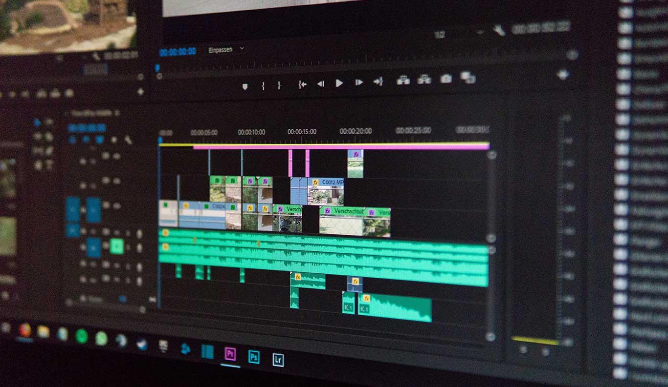 Visning af videoproduktion klipning